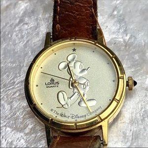 Vintage Leather Mickey Disney Loris Watch